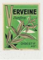 AN 907 / ETIQUETTE -    VERVEINE  SURFINE  DIGESTIF - Andere