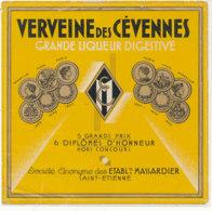 AN 909 / ETIQUETTE -    VERVEINE  DES CEVENNES   ETS MASSARDIER  SAINT ETIENNE - Autres