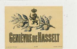 AN 918 / ETIQUETTE -   GENIEVRE  DE HASSELT - Andere