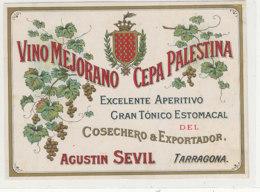 AN 936 / ETIQUETTE -   VINO MEJORANO  CEPA PALESTINA   AUGUSTIN SEVIL  TARRAGONA - Fruits & Vegetables