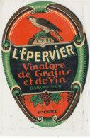 AN 937 / ETIQUETTE -    L'EPERVIER VINAIGRE DE GRAINS  ET DE VIN - Andere
