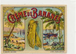 AN 944  / ETIQUETTE - CREME DE BANANES - Fruits & Vegetables