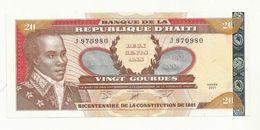 BILLET  NEUF HAITI  20  GOURDES  ANNEE 2001    SUPERBE CRAQUANT. - Haïti