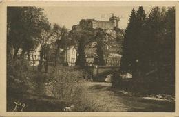Le Chateau Fort Et Le Gave.  Envoyée En Belgique En 1935 - Lourdes