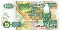 LOT125 - Banknote Zambia 20 Twenty Kwacha Bank 1992 - UNC - Zambia