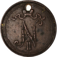 Monnaie, Finlande, Nicholas II, 10 Pennia, 1900, TB, Cuivre, KM:14 - Finland