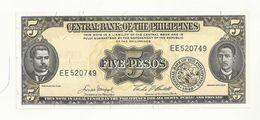 BILLET  NEUF  PHILIPPINES    5 PESOS  ANNEE  1949    SUPERBE CRAQUANT. - Philippines