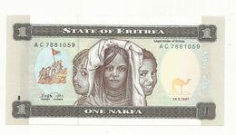 BILLET  NEUF  ERYTHREE  1 NAKFA ANNEE 1997  NEUF  SUPERBE - Eritrea