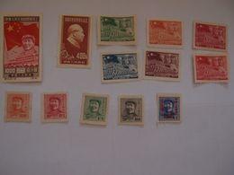 Lot De 13  Timbres Neufs Sans Gomme  Chine China Mao Tsé Thung - 1912-1949 Republic