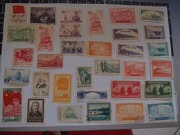 Lot De 33  Timbres Neufs Sans Gomme  Et Oblitérés Chine China - 1912-1949 Republic
