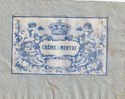 """Etiquette Pour Coller Sur Un Pot à Pharmacie """"Crême De Menthe"""". (10,50cm X 6,50cm) - Andere"""