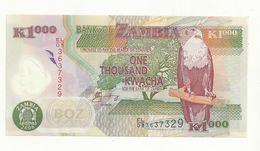 BILLET  NEUF  ZAMBIE  1000 KWACHA   ANNEE 2008    NEUF  SUPERBE. BILLET EN POLYMER - Zambia