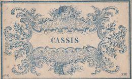 """Etiquette Pour Coller Sur Un Pot à Pharmacie """"CASSIS"""". (9cm X 6cm) - Andere"""
