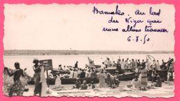 Photo Afrique - Mali - Bamako - Au Bord Du Niger Que Nous Allons Traverser - Barque - Animée - VELOX - 1950 - Afrika