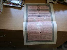 A Temes Begavolgyi Vizszabalyzo TarsulaTNAK KOLCSONE RESZKOTVENY KEtezer Koronarol Temesvar 1897 - Hungary
