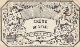 """Etiquette Pour Coller Sur Un Pot à Pharmacie """"cr^me De Noyau"""". (10cm X 6cm) - Andere"""