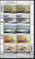 South Africa 2007 - Ships Of The Union Castle Line, Sheet - Michel 1769-73 -  MNH, NEUF, Postfrisch - Afrique Du Sud (1961-...)