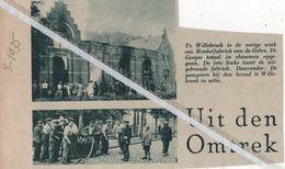WILLEBROEK..1935.. BRAND IN MEUBELFABRIEK VAN DE GEBR. DE GOEYSE/ DE POMPIERS BIJ DE BRAND IN ACTIE - Vieux Papiers