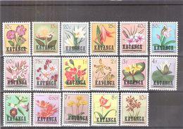 Katanga 23/39 - Fleurs - Série Complète - XX/MNH - Katanga