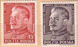 1951 Poland Mi 707 - 708,  J. Stalin Russia Politician Communism MNH** - 1944-.... Republic