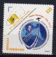 DOMINICAN REPUBLIC, 2018, MNH, XV11 INTERNATIONAL CONGRESS ON AERONAUTICS,PLANES, 1v - Transports