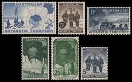 AAT / Austral. Antarktis 1957-1959 - Mi-Nr. 1-6 ** - MNH - 3 Ausgaben - Territorio Antártico Australiano (AAT)