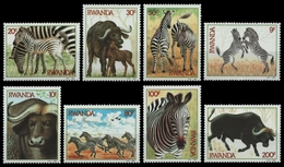Ruanda 1984 - Mi-Nr. 1283-1290 ** - MNH - Wildtiere / Wild Animals - 1980-89: Ongebruikt