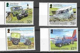FALKLAND ISLANDS, 2019, MNH,  VEHICLES, LAND ROVERS, JEEPS, LIGHTHOUSES, 4v - Transport