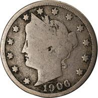 Monnaie, États-Unis, Liberty Nickel, 5 Cents, 1906, U.S. Mint, Philadelphie - EDICIONES FEDERALES
