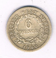 6 PENCE 1940  BRITISH WEST AFRICA /4271/ - Coins