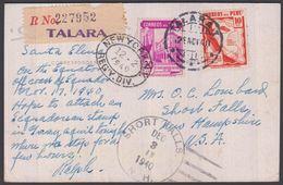 1940. PERU. Post Card Front Street, Colon. With 10 + 20 C To USA From  TALARA 28. NOV... () - JF362273 - Pérou