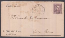 1898. PARAGUAY. Envelope 5 CENTAVOS Higino Uriarte Cancelled VILLA RICA 21 AGT 98. () - JF362285 - Paraguay