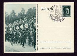 "DR Postkarte P 264/06 BERLIN - 29.9.37 - Sonderstempel ""Staatstreffen Mussolini-Hitler""  - Siehe Scan - Deutschland"