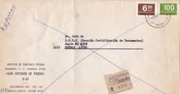 """ARGENTINE COMMERCIAL COVER """"SAN ANTONIO DE PADUA"""" COLEGIO, CIRCULEE SANTA ELENA A BUENOS AIRES, 1977 RECOMMANDE -LILHU - Argentina"""
