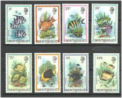 Montserrat 1981 Fishes  Mi 445II-460II 8 Values, MNH(**) - Montserrat