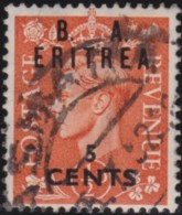 B.A  .Eritrea     .    SG   .   E 26     .         O   .   Cancelled .   /   .   Gebruikte - Grossbritannien (alte Kolonien Und Herrschaften)