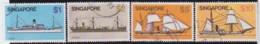 Straits Settlements   .    SG   .   4 Stamps      .    O      .   Cancelled    .   /   .  Gebruikt - Singapur (1959-...)