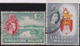Straits Settlements   .    SG   .   51/52      .    O      .   Cancelled    .   /   .  Gebruikt - Singapur (1959-...)