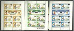 Montserrat 1981 Royal Wedding Prince Charles And Lady Diana, Mi 465-470 In 3 Sheetlets MNH(**) - Montserrat