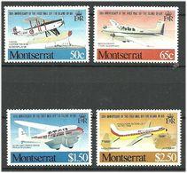 Montserrat 1981  50 Years Of Airmail Service, Planes, Aircrafts, Mi 472-475 MNH(**) - Montserrat