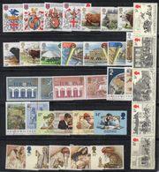 BIG - GRAN BRETAGNA 1984, L'annata Completa Dei Commemorativi ***  MNH (2380A) La Striscia Ripiegata - 1952-.... (Elizabeth II)