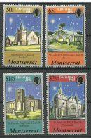 Montserrat 1981  Christmas: Churches, Mi 476-479 MNH(**) - Montserrat