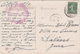 1923 Cachet HCITR Haut-Commissaire République /Provinces Du Rhin /Coblence Koblenz /Occup Ruhr Allemagne/ Pour Salins 39 - Non Classificati