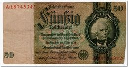 GERMANY,50 REICHSMARK,1933,P.182,VF - [ 4] 1933-1945: Derde Rijk