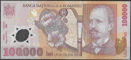 100.000 LEI ROMANIAN BANKNOTE FROM 2001 - Romania