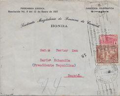 Colombia. 1943. Honda-Bogota. 03-XII-1943. Dario Echandia. Sindicato Magdalena De Braceros De Caracoli - Colombia