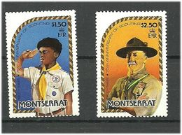 Montserrat 1982 75 Years Of Scouts. Scoat And Baden Powell, Mi 497-498 MNH(**) - Montserrat