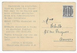 CPA Peter & Kohler Chocolats Suisses, Lauterbrunnen, 1911 - Publicidad