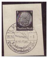 Dt-Reich (007380) Sonderstempel Auf Briefstück, Villach, Internationale Wintersportkämpfe 1941, Gestempelt Am 23.2.1941 - Used Stamps