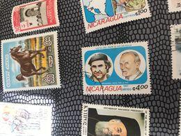NICARAGUA IL PAPA IN NICARAGUA 1 VALORE - Postzegels